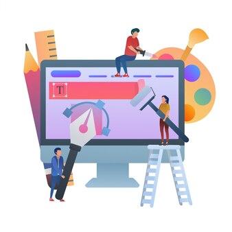 Konzept zur gestaltung der web-benutzeroberfläche