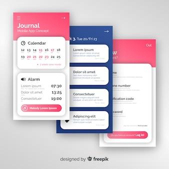 Konzepte für die mobile app