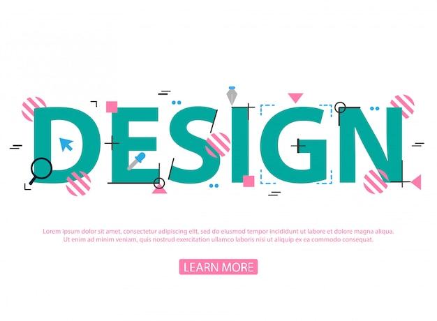 Konzepte von wörtern design