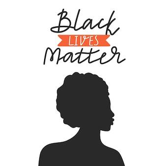 Konzeptentwurf der schwarzen lebensmaterie. für gleichheit kämpfen.