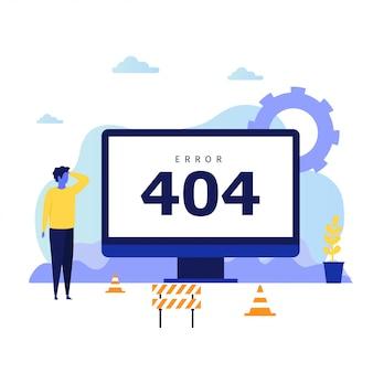 Konzeptentwurf des fehlers 404 für zielseite