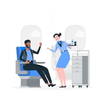 Konzeptillustration der stewardess
