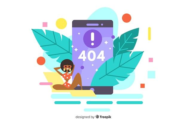 Konzeptillustration des fehlers 404 für lannding seite