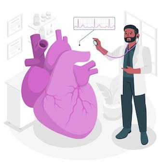 Konzeptillustration des kardiologen