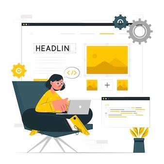 Konzeptillustration des website-erstellers
