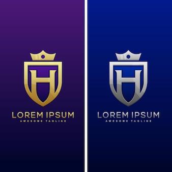 Konzeptillustration designschablone des luxusbuchstaben h