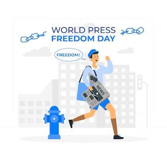 Konzeptillustration zum welttag der pressefreiheit