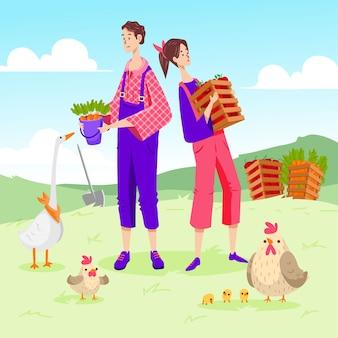 Konzeption des ökologischen landbaus