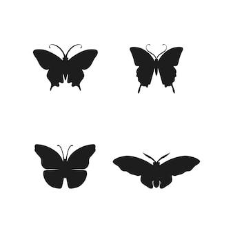 Konzeptionelle einfache bunte ikone des schmetterlings logo animal insect