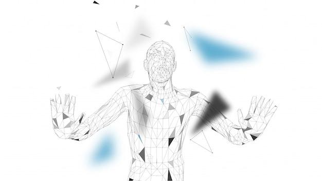 Konzeptioneller abstrakter mann