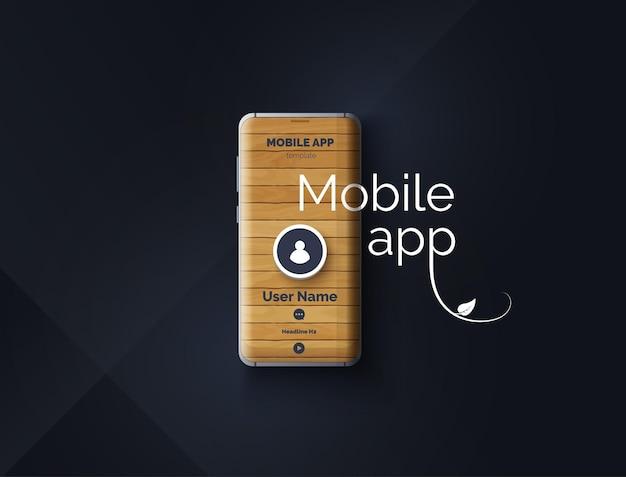 Konzeptionelles design einer mobilen anwendung modernes abstraktes user interface design vector illustratio