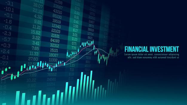 Konzeptkunst des finanziellen wachstums in einer futuristischen idee, die für investitionen in wachstumsgeschäfte oder finanztechnologie geeignet ist