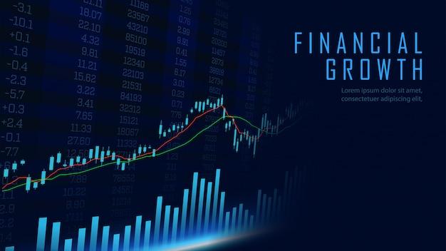 Konzeptkunst des finanziellen wachstums