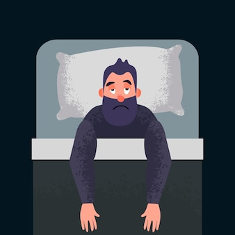 Konzeptkunst für schlaflose schlaflosigkeit