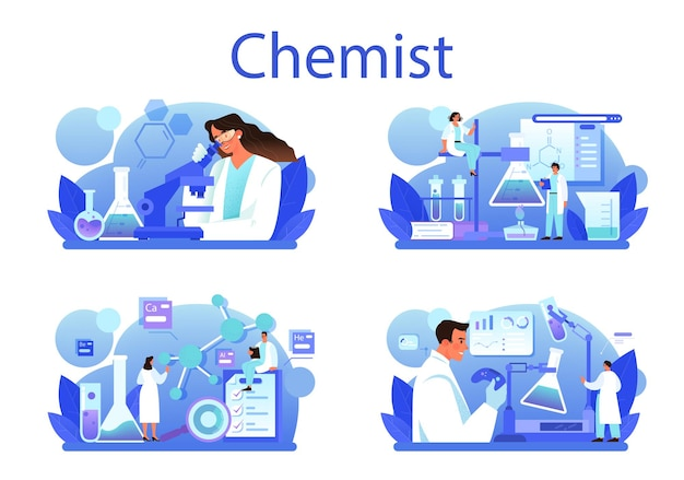 Konzeptset für chemiker