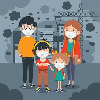 Konzeptzeichnung der luftverschmutzung