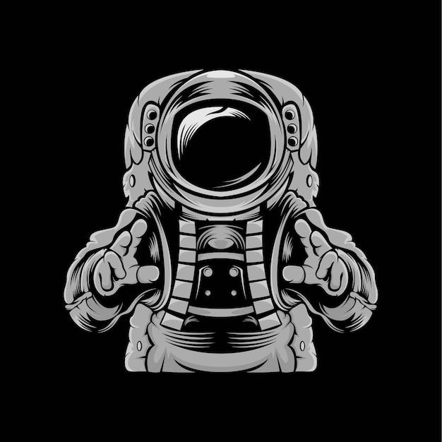 Kopf astronauten maskottchen illustration