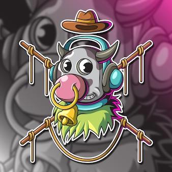 Kopf der kuh-vektor-illustration