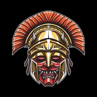 Kopf des dämonischen gladiators illustration