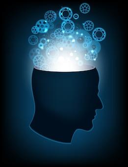 Kopf des menschlichen geistes