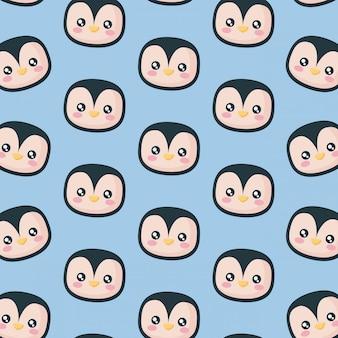 Kopf des pinguin-ikonenmusters