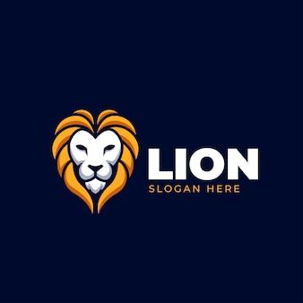 Kopf löwe creartive wild logo elegante illustration