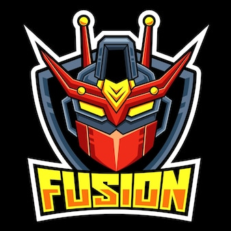 Kopf roboter fusion esport logo team