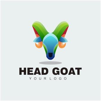Kopf ziege bunte illustration abstraktes logo-design
