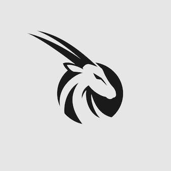Kopf ziege logo