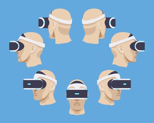 Kopfhörer der virtuellen realität