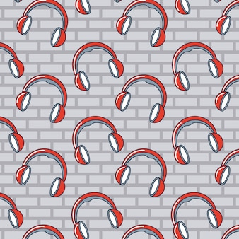 Kopfhörer gekritzelmuster