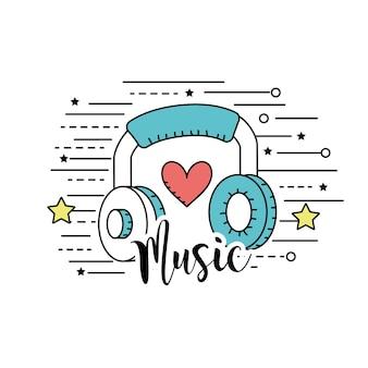 Kopfhörer, um musik zu hören und zu spielen