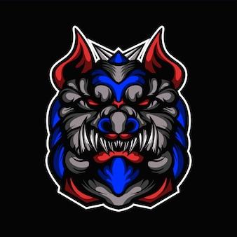 Kopfillustration des lügnerhundes