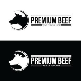 Kopfkuh - inspiration für das design des premium-rindfleisch-logos