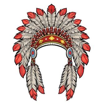 Kopfschmuck amerikanischer ureinwohner