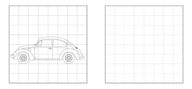 Kopieren sie das bild des volksautos