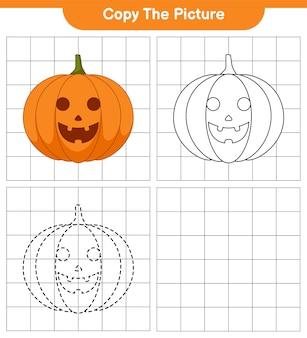 Kopieren sie das bild, die spur und die farbe, das lernspiel für kinder, das druckbare arbeitsblatt und die illustration
