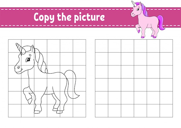 Kopieren sie das bild. malbuchseiten für kinder. arbeitsblatt zur bildungsentwicklung.