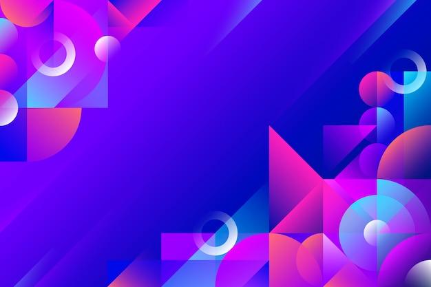 Kopieren sie den futuristischen farbverlaufs-geometrischen hintergrund des raums