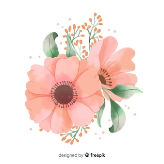 Korallenblüte in aquarell gemacht