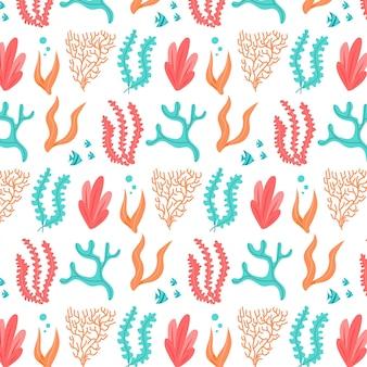 Korallenmuster-sammlungskonzept