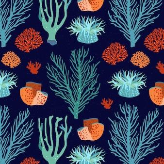 Korallenmusterkonzept