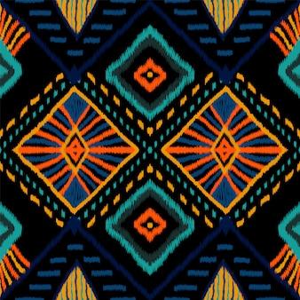 Korallenrote retro krawattenfarbe. indigo carpet seamless pattern. indonesische teppich boho-beschaffenheit. hochrote japan-wiederholungs-verzierung. wiederholen sie batik african.