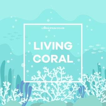 Korallenroter hintergrund