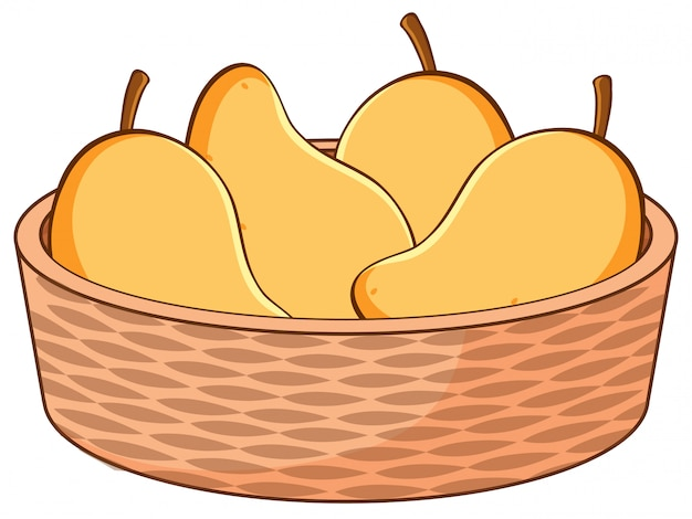 Korb mit mangos