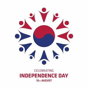 Korea unabhängigkeit tag hintergrund-design