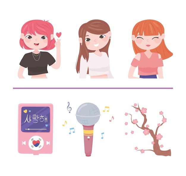 Koreanische kpop-kultur