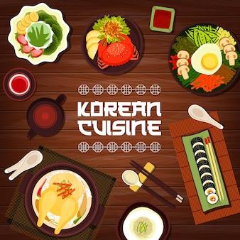 Koreanische küche ginseng hühnersuppe samguetang