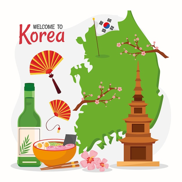 Koreanische kultur schriftzug