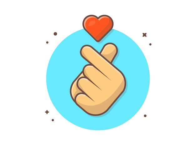 Koreanische liebes-zeichen-ikone